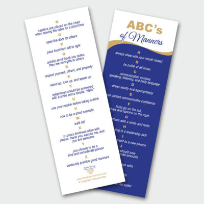 ABCs of Manners Bookmark Final Touch