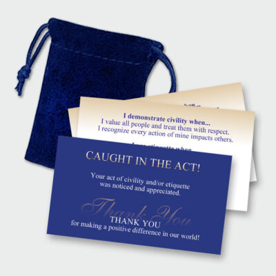 """Caught in the Act!"" Civility Cards by Final Touch"