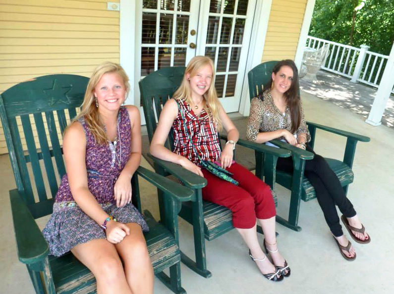 Young women relax and enjoy the week-long camp at Deluxe Life Skills