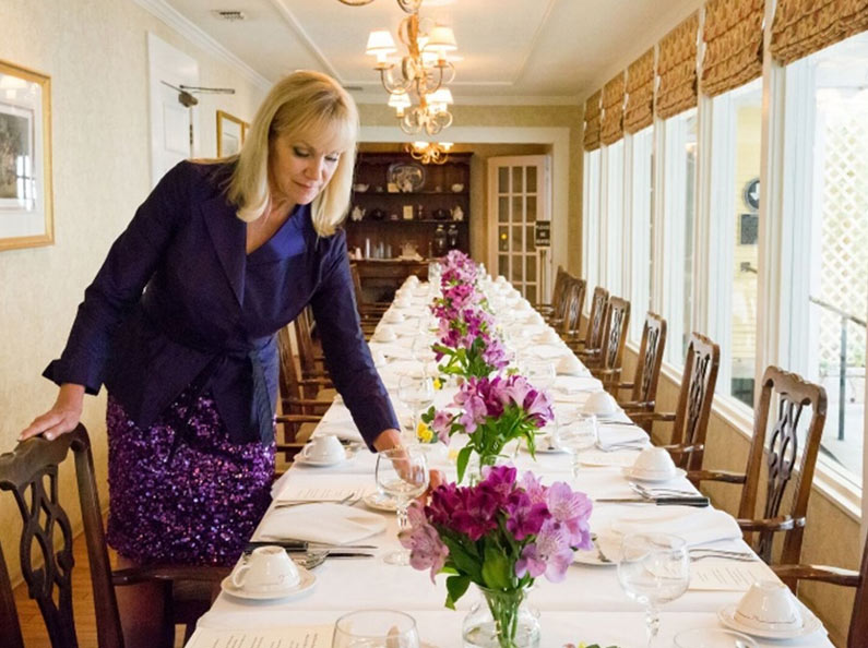 Learn dining etiquette in a beautiful setting.