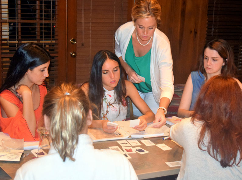 Young women learn how to craft effective wardrobes at Deluxe Life Skills Camp.