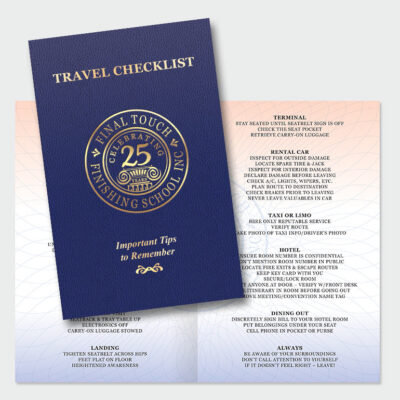 Travel Checklist by Final Touch, travel tips and guidelines
